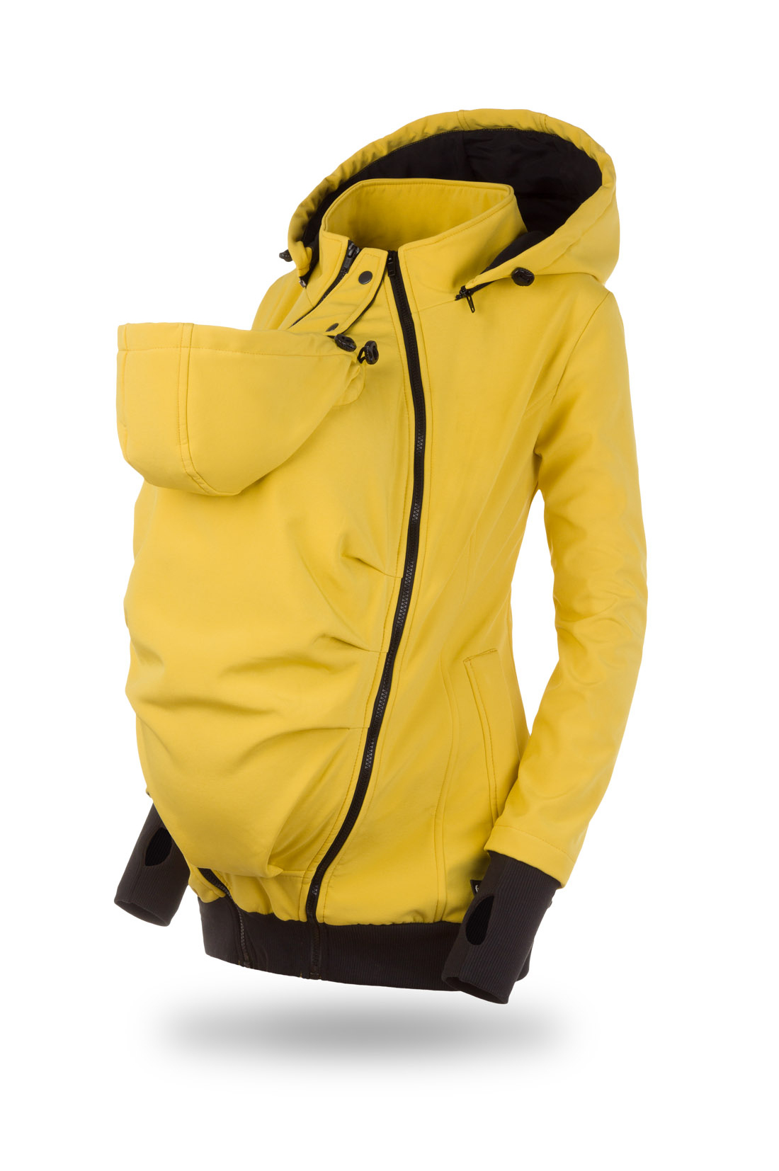 Everest mustard softshell positie- en draagjas mawaho.nl